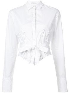 рубашка с вышивкой и бантом Tome