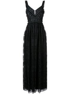 вечернее платье V-образным вырезом Badgley Mischka