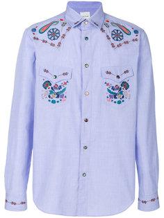 рубашка с цветной вышивкой Paul Smith