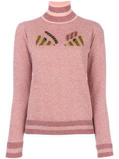 свитер с вышивкой Eyes  Fendi