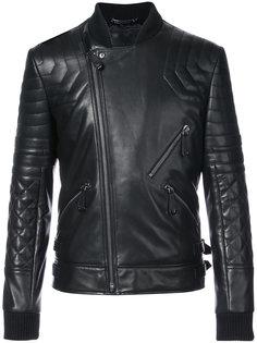 байкерская куртка с черепом на спине Philipp Plein