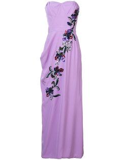 платье с цветочной отделкой  Carolina Herrera