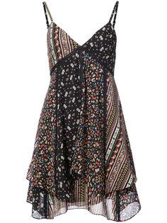 расклешенное платье с цветочным принтом Alice+Olivia
