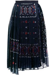 юбка с эффектом devoré Sacai
