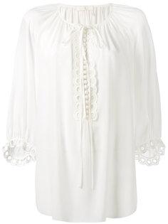 блузка в крестьянском стиле со шнуровкой Chloé