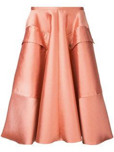 пышная шелковистая юбка Rochas