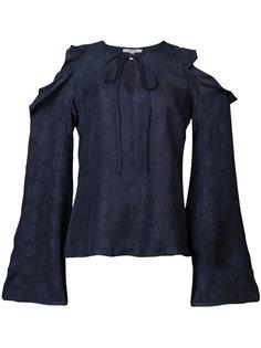 блузка с вырезными деталями и оборками Derek Lam 10 Crosby