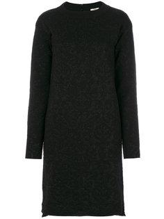платье с длинными рукавами и блестками Fendi