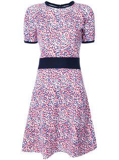приталенное платье в горошек  Carolina Herrera