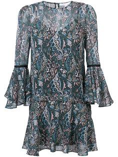 короткое платье с цветочным принтом Veronica Beard