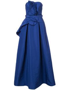 вечернее платье без бретелек Carolina Herrera
