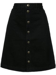 юбка А-образного силуэта на пуговицах A.P.C.