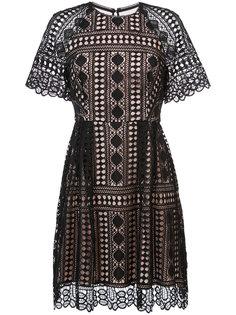 платье с кружевом Nicole Miller