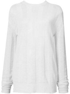 свитер свободного кроя Helmut Lang