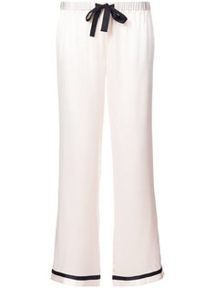 пижамные брюки с контрастной отделкой  Morgan Lane