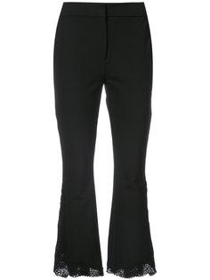 расклешенные кружевные брюки  Yigal Azrouel