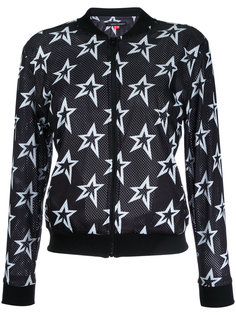 сетчатая куртка-бомбер со звездами  Perfect Moment