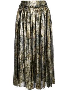 плиссированная юбка с эффектом металлик Maison Margiela