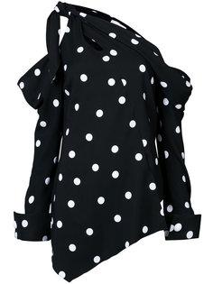 асимметричная блузка с открытым плечом Monse