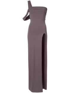 асимметричное платье-бандо Baja East