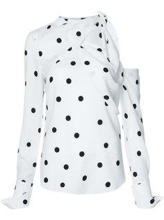 блузка в горох с открытыми плечами Monse