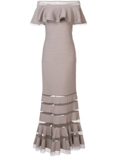 платье с открытыми плечами Tadashi Shoji