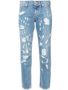укороченные джинсы с протертостями Derek Lam 10 Crosby