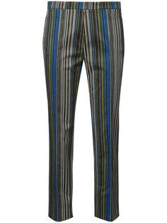укороченные брюки в полоску Akris Punto