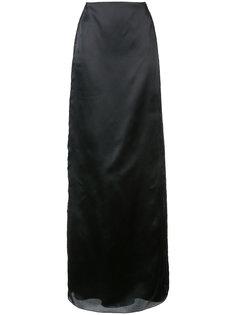 юбка макси с кружевными вставками Marchesa