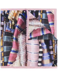 шарф с принтом тканей Paul Smith