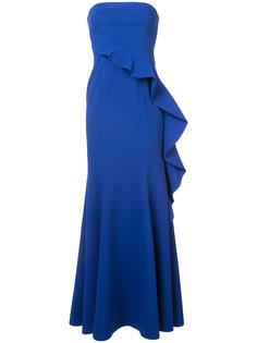 вечернее платье с оборками без бретелек Jay Godfrey