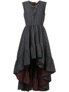 асимметричное платье Cloqué Fendi