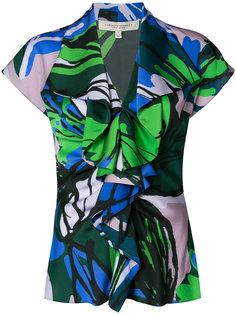 блузка с оборками Carolina Herrera