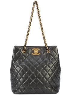 стеганая сумка-тоут через плечо Chanel Vintage