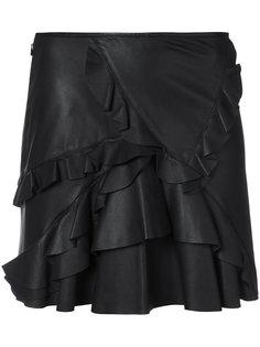 юбка мини с оборкой  Derek Lam 10 Crosby