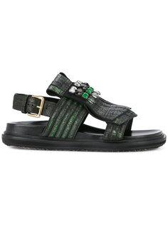 сандалии с камнями Marni