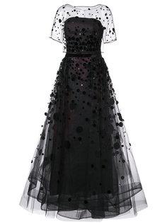 вечернее платье из органзы Carolina Herrera