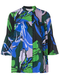 блузка с цветочным принтом Carolina Herrera