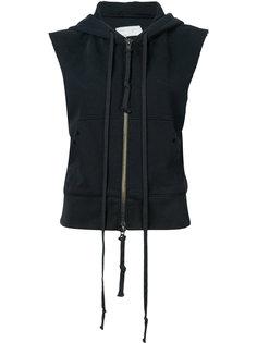 sleeveless zip hoodie Greg Lauren