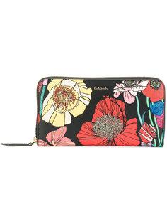 кошелек на молнии с цветочным принтом  Paul Smith