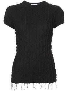 блузка с оборками и бахромой Helmut Lang