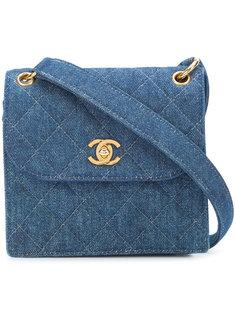 джинсовая мини-сумка через плечо с откидным клапаном Chanel Vintage