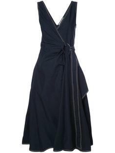платье миди с запахом Derek Lam 10 Crosby