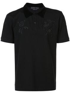 рубашка-поло с вышивкой Alexander McQueen