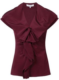 блузка с пышным воротником Carolina Herrera