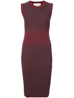 платье без рукавов с узором  Carolina Herrera
