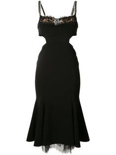 платье с вырезными деталями Marchesa