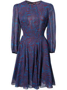 полупрозрачное платье с зебровым принтом Derek Lam