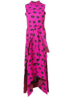 расклешенное платье с цветами Proenza Schouler