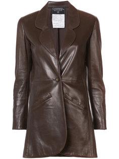 куртка с заостренными лацканами Chanel Vintage
